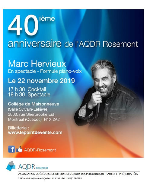Affiche spectacle 40e